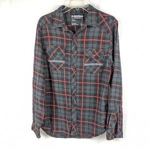 Machine Red And Gray Flannel